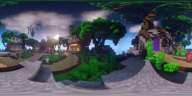 Hypixel SkyWars Lobby | 360 videos with shaders! | VeeR VR